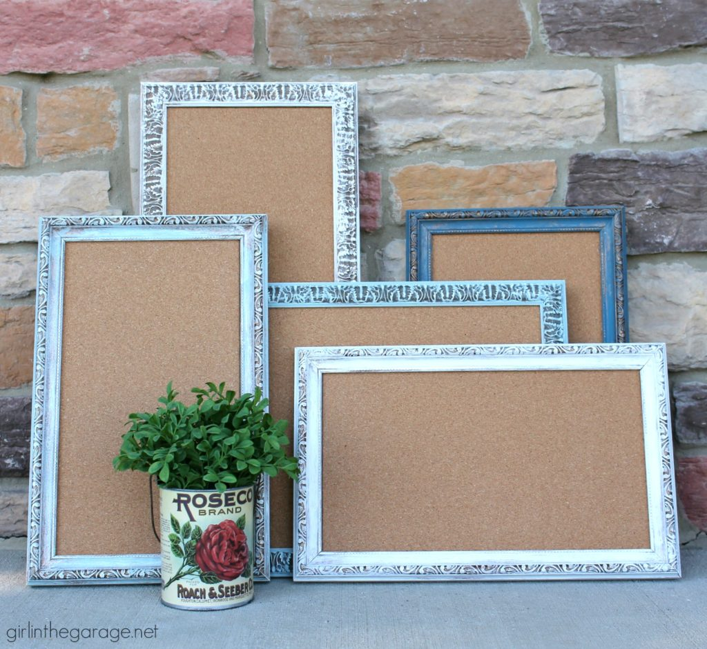 Repurposed frames to memo boards - DIY furniture and decor makeover ideas by Girl in the Garage