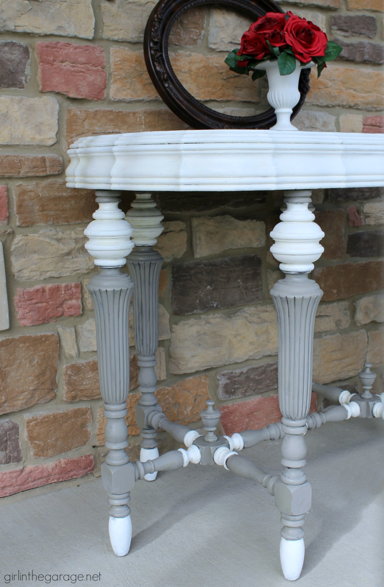 Antique Table Makeover with Annie Sloan Chalk Paint - Girl in the Garage