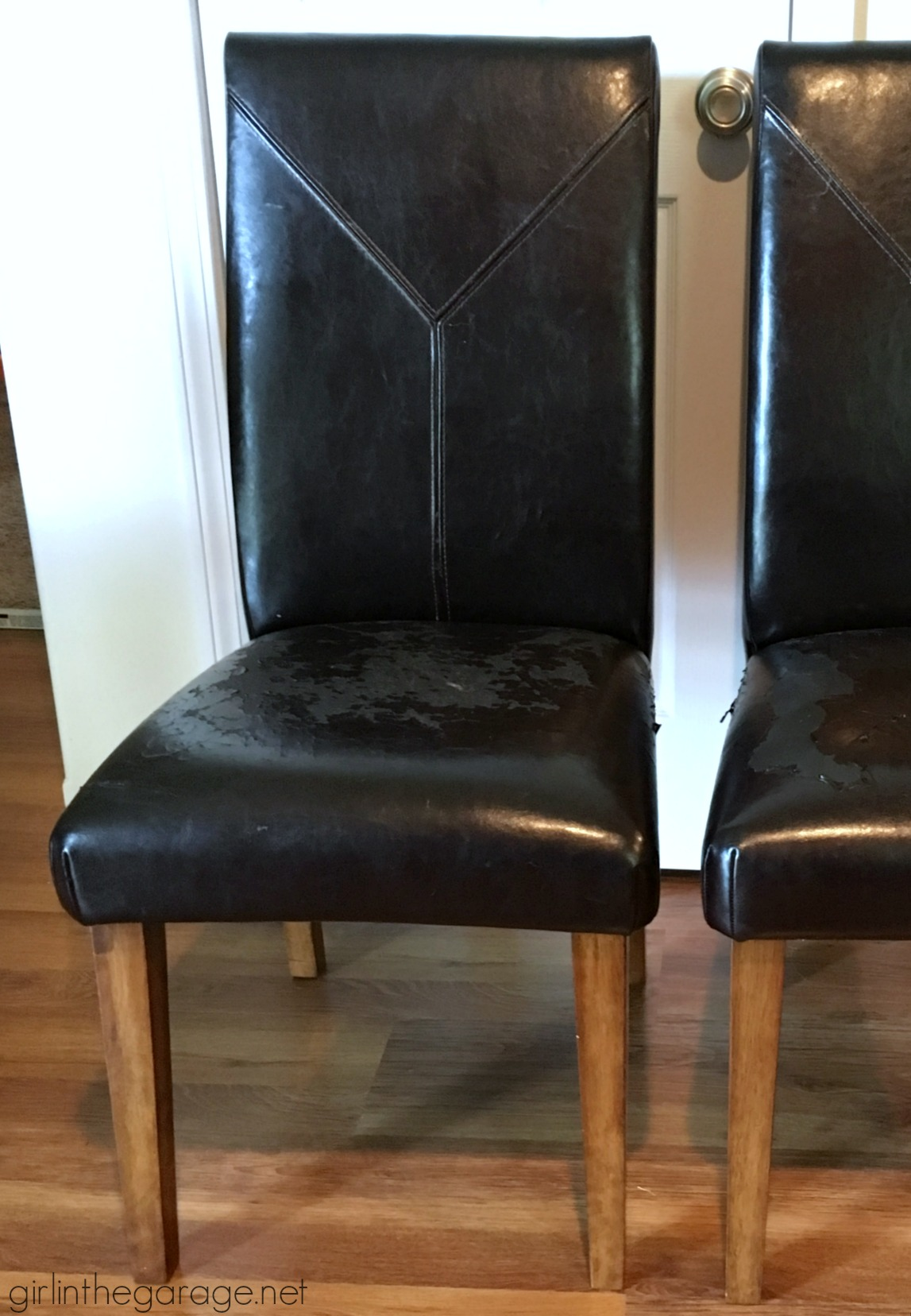 Parsons dining chair makeover - Before