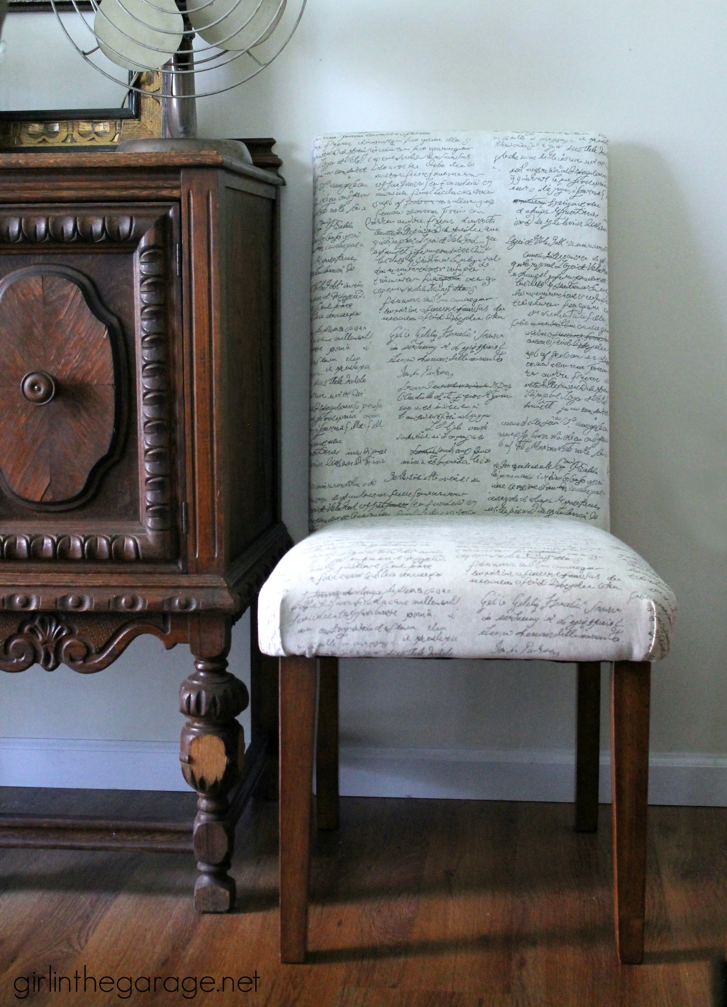 "How to Reupholster a Dining Chair Straying from your ""usual"