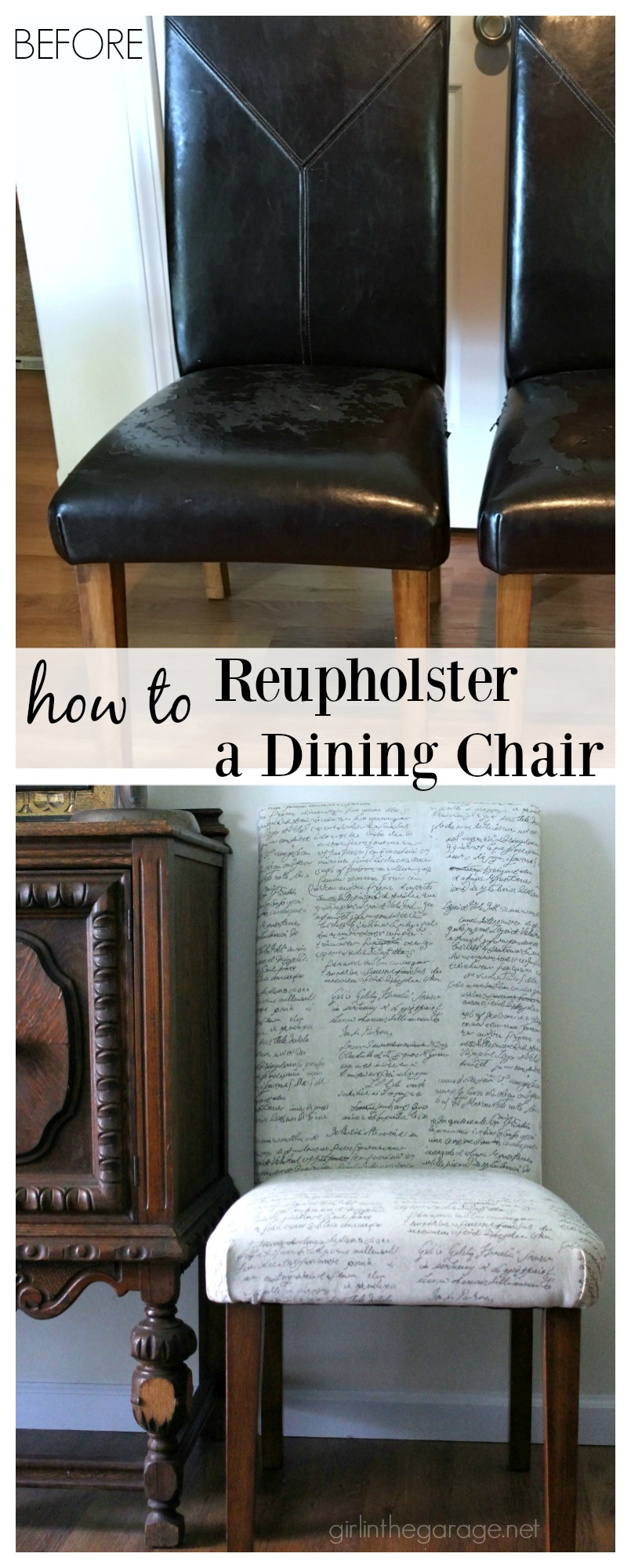 Do It Yourself Divas Diy Kitchen Table Makeover: How To Reupholster A Dining Chair + Straying From Your