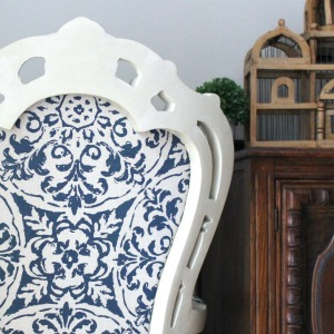 The Throne Chair – DIY Reupholstered Chair Makeover – And Being Brave