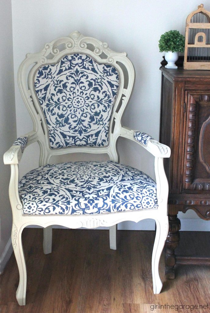 Reupholstered Throne Chair - Girl in the Garage