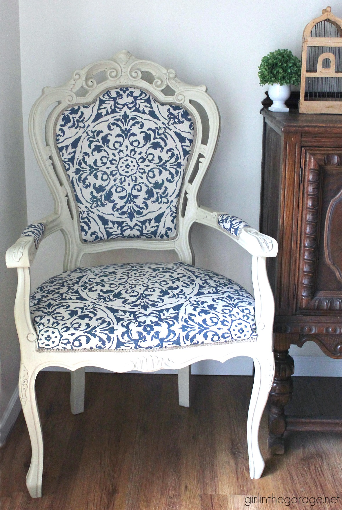 The Throne Chair - DIY Reupholstered Chair Makeover - And ...