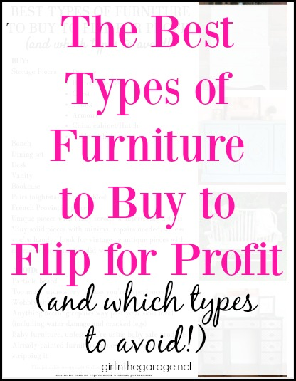 The best types of furniture to buy to flip for profit