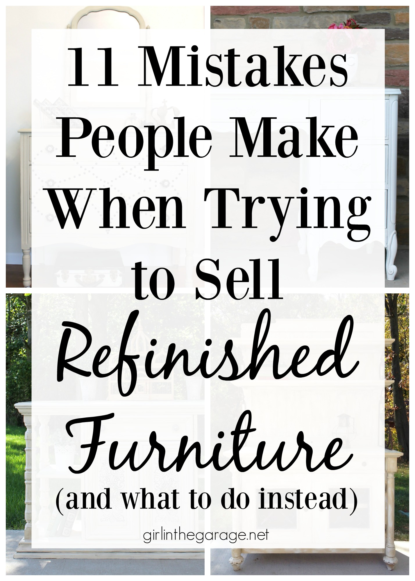 11 Mistakes People Make When Trying To Sell Refinished Furniture (and What  To Do Instead