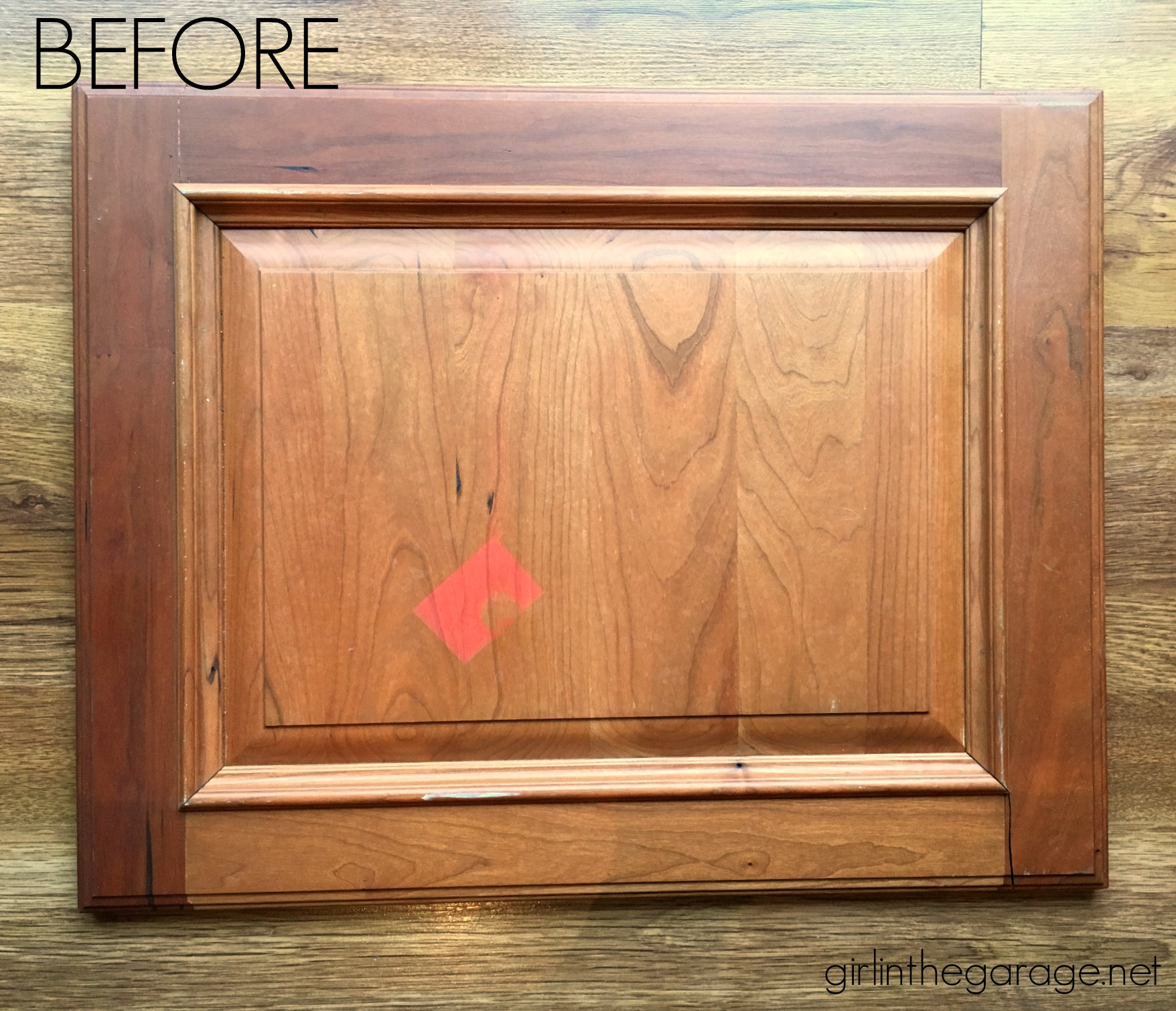 DIY Repurposed Cabinet Door - Upcycled Trash to Treasure Makeover by Girl in the Garage