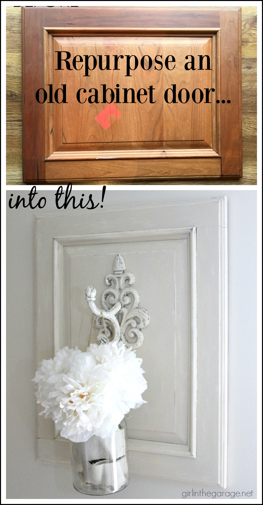 Incroyable DIY Repurposed Cabinet Door   Upcycled Trash To Treasure Makeover By Girl  In The Garage