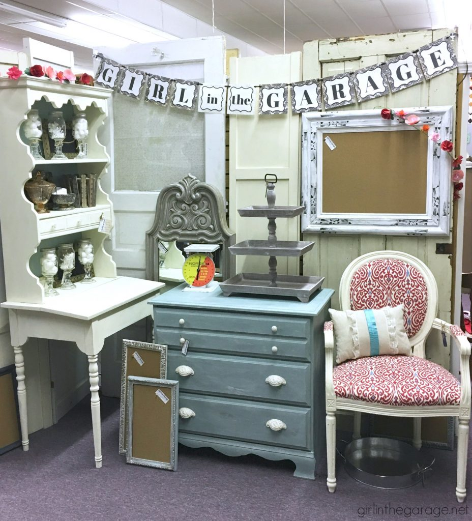 How to set up antique booth in a small space. Girl in the Garage