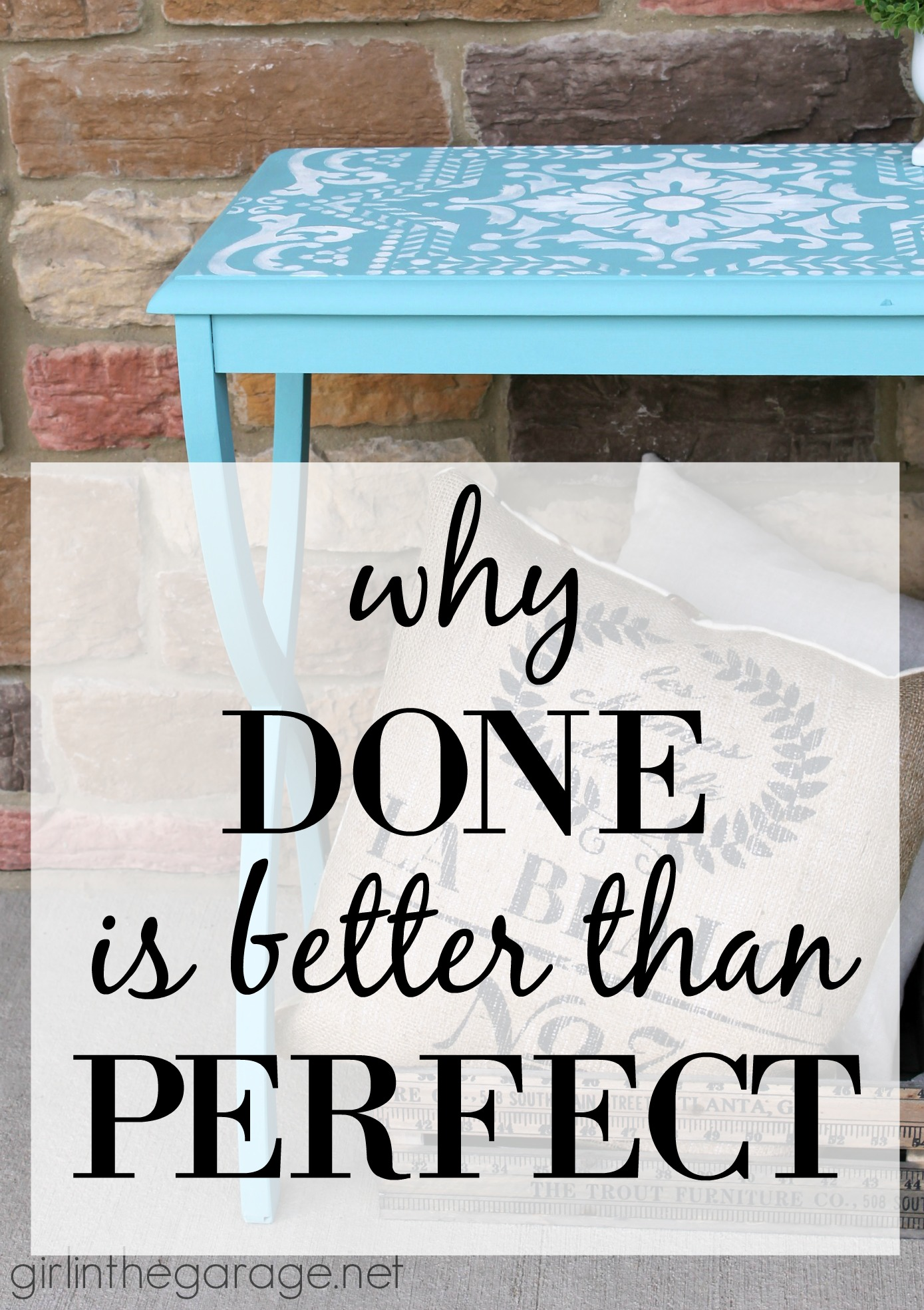 Is fear holding you back from trying something new?   Learn why Done is better than Perfect.  From Girl in the Garage