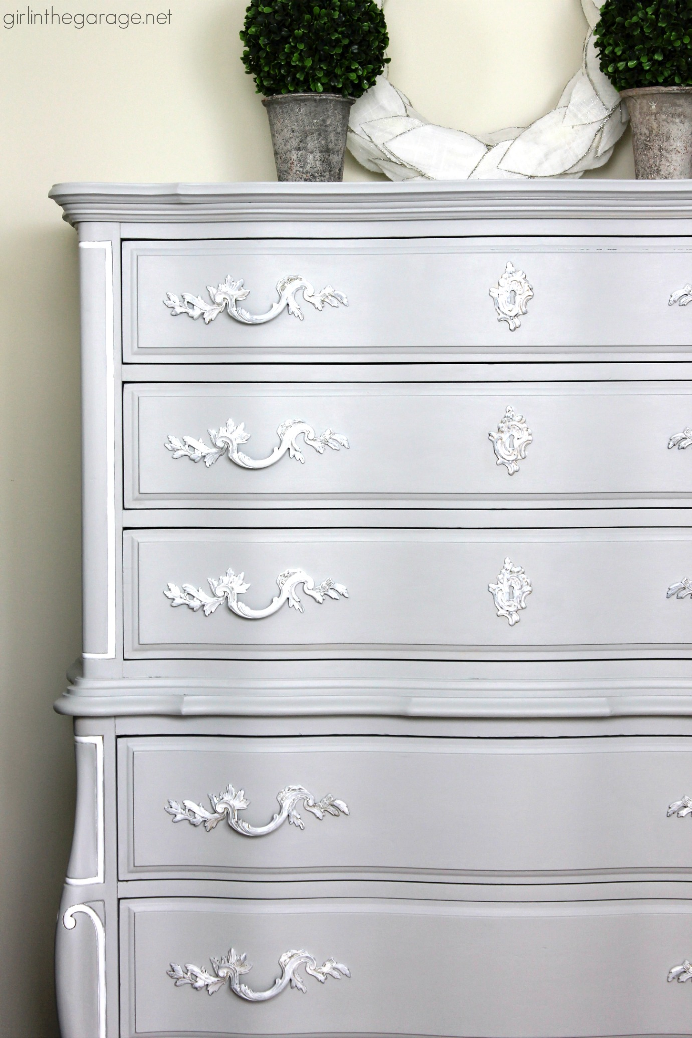 By In The Garage Glamorous French Provincial Dresser Makeover Fusion Mineral Paint