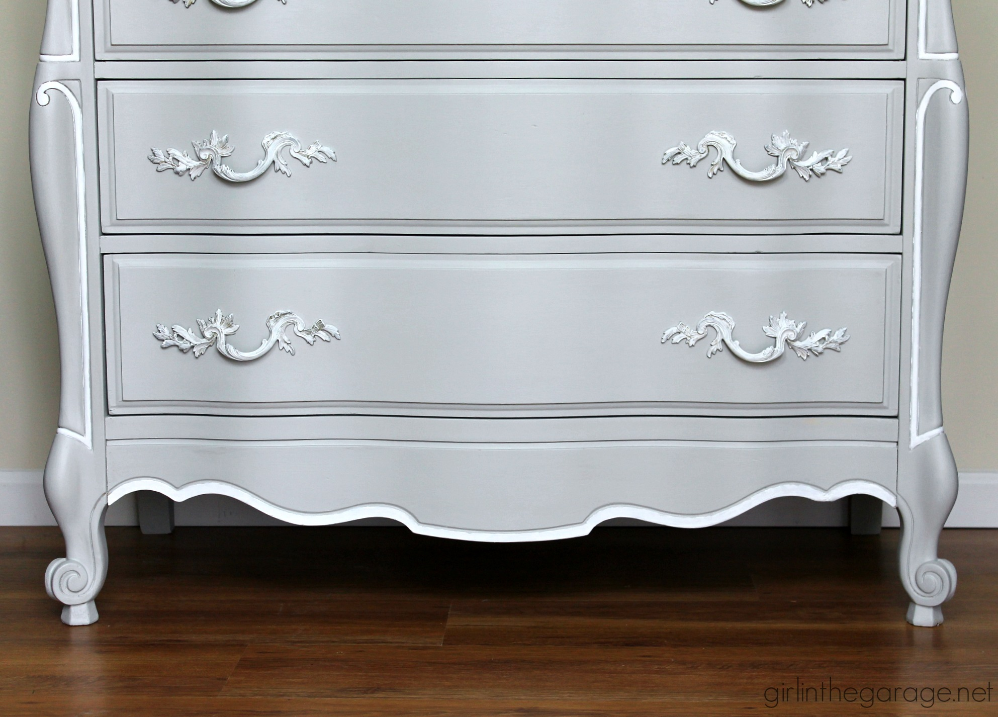 Glamorous French Provincial Dresser Makeover In Fusion Mineral Paint By The Garage