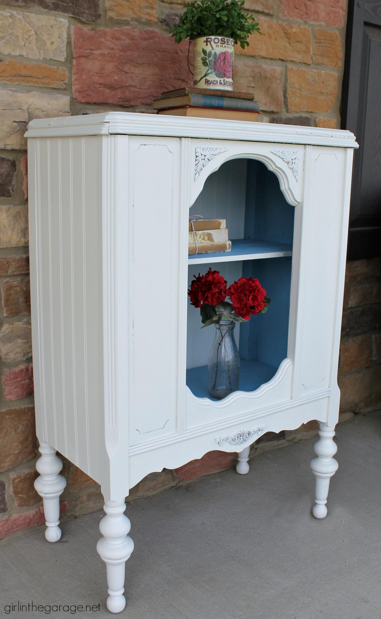 Antique Repurposed Radio Cabinet | Girl in the Garage®