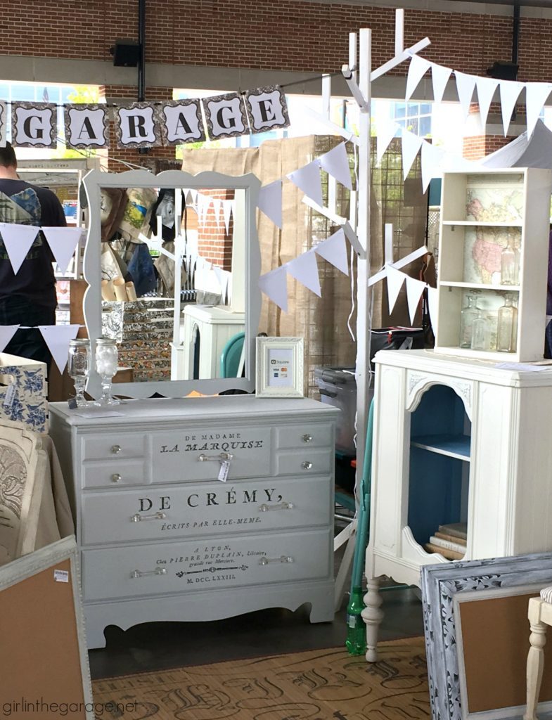 How to be a successful furniture and decor vendor at a vintage market - Three Little Birds Market recap