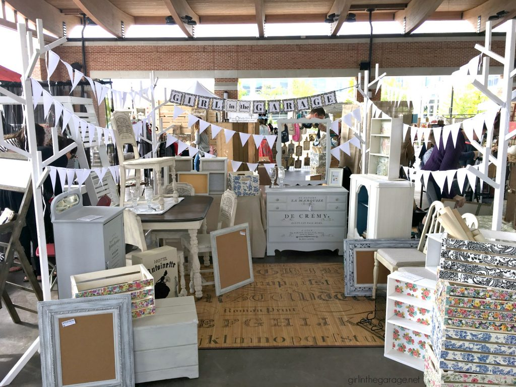 Easy portable display ideas for markets and craft fairs - by Girl in the Garage