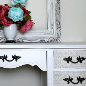French Provincial Decoupage Desk