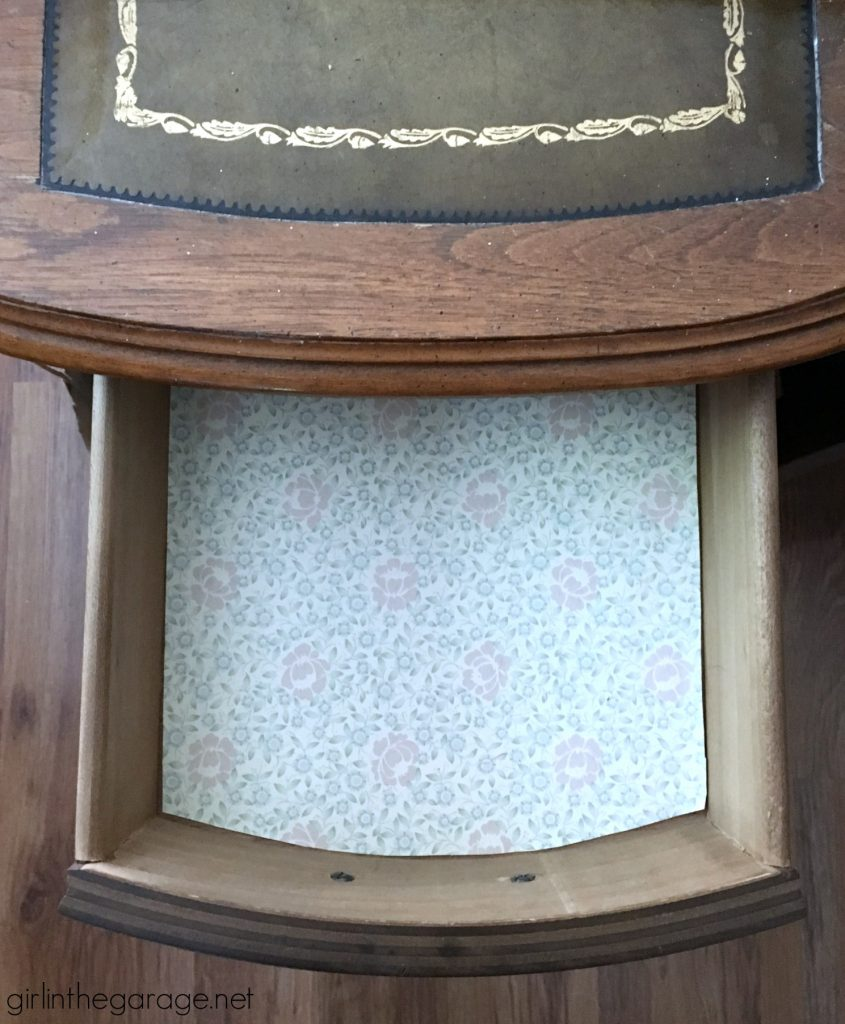 Vintage French Provincial decoupage desk makeover - Girl in the Garage