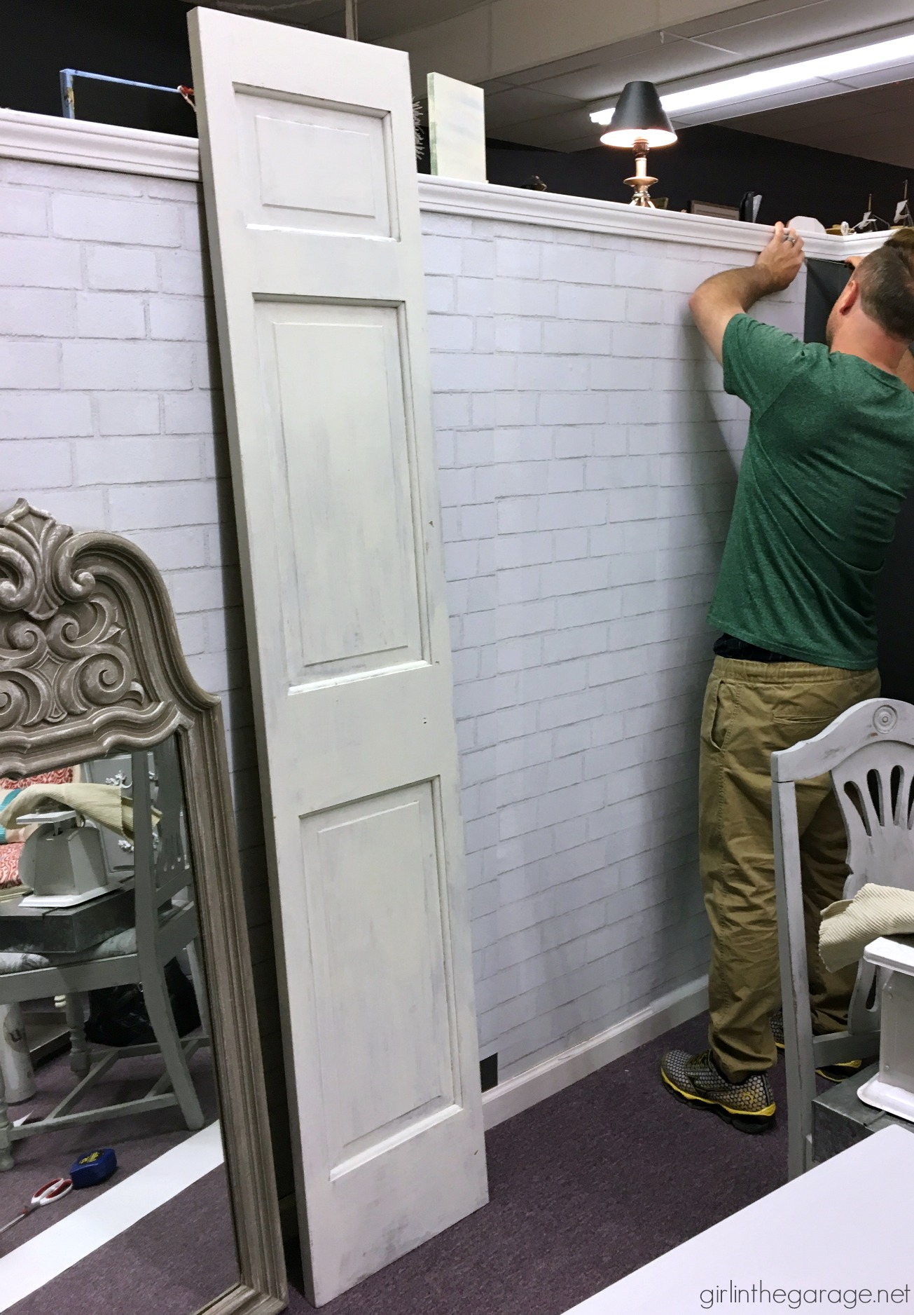 How To Hang Removable Faux Brick Wallpaper On Your Walls In The Garage