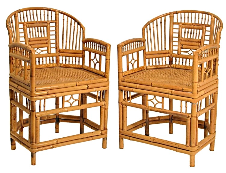After more research, this style may also be known as a Brighton Rattan Chair  and is likely from the 50s-60s.