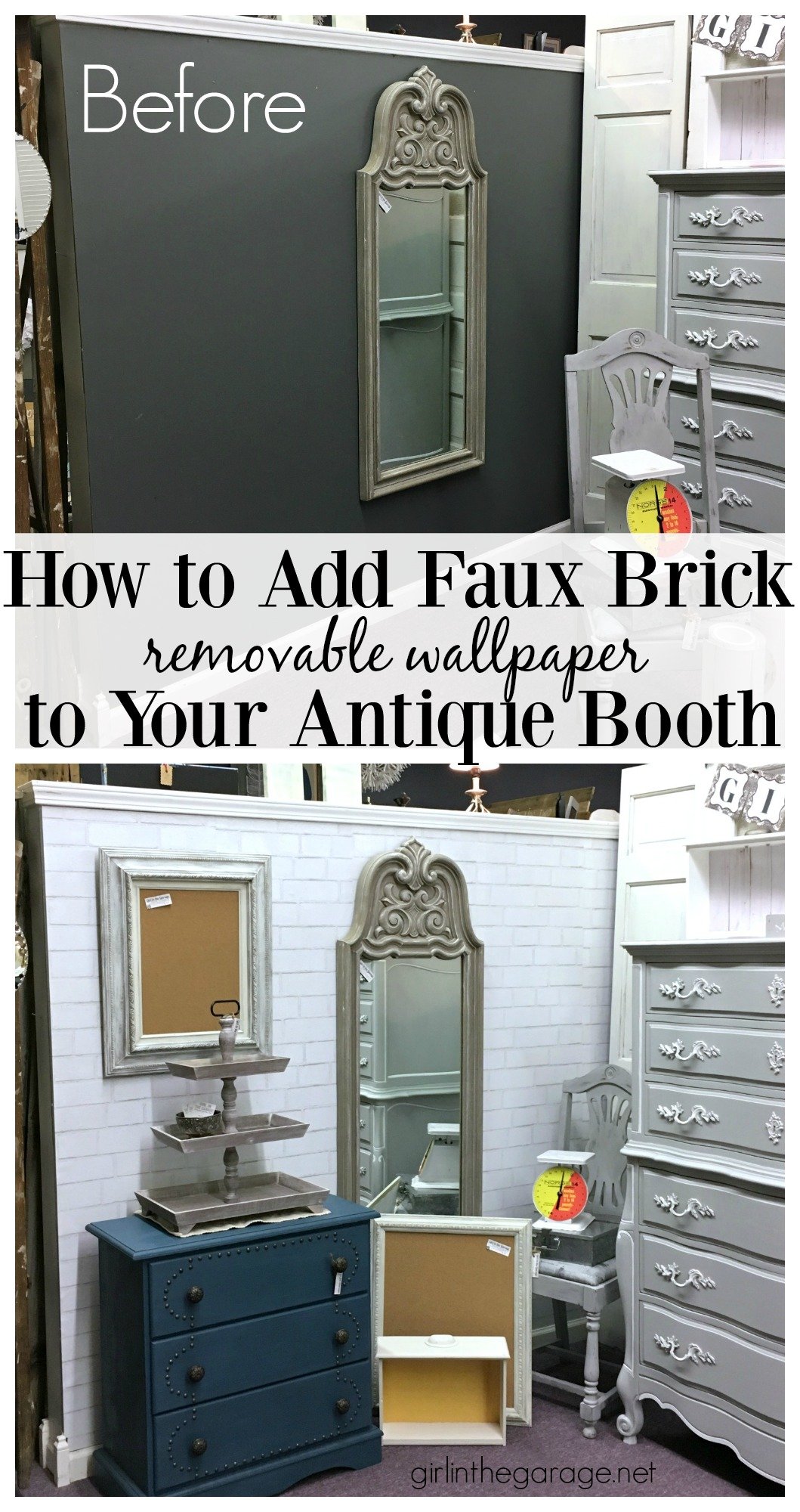 How To Add Faux Brick Removable Wallpaper Antique Booth