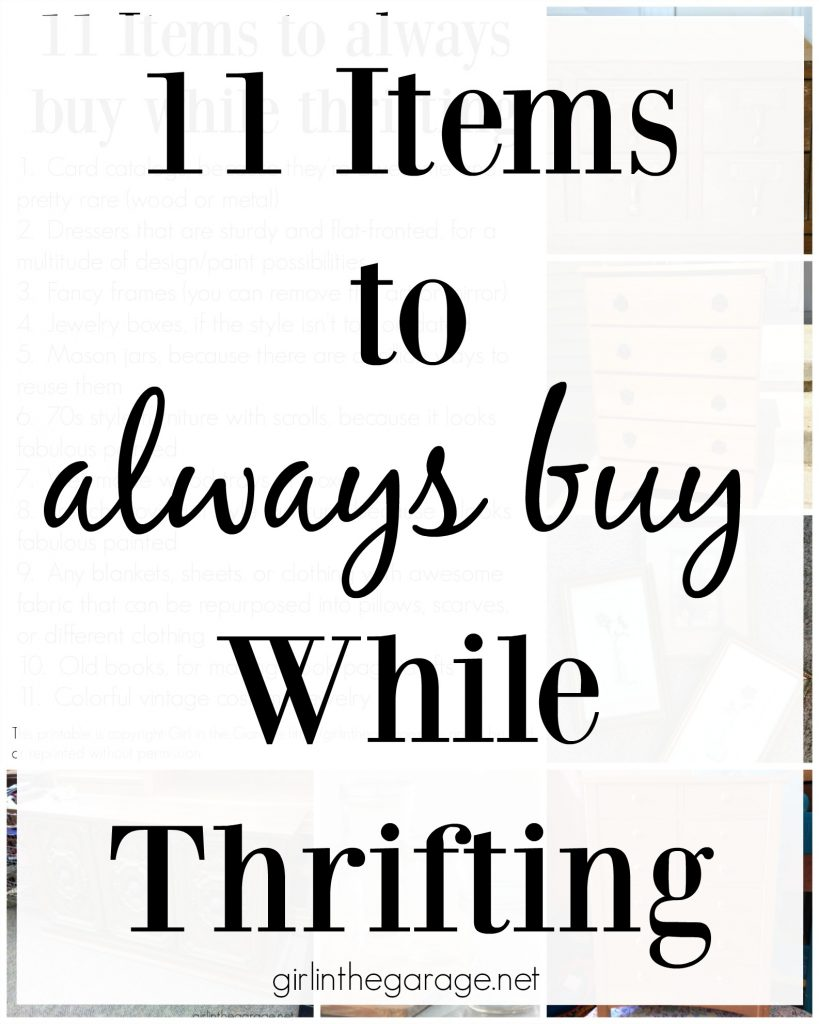 11 items to always buy while thrifting. Girl in the Garage