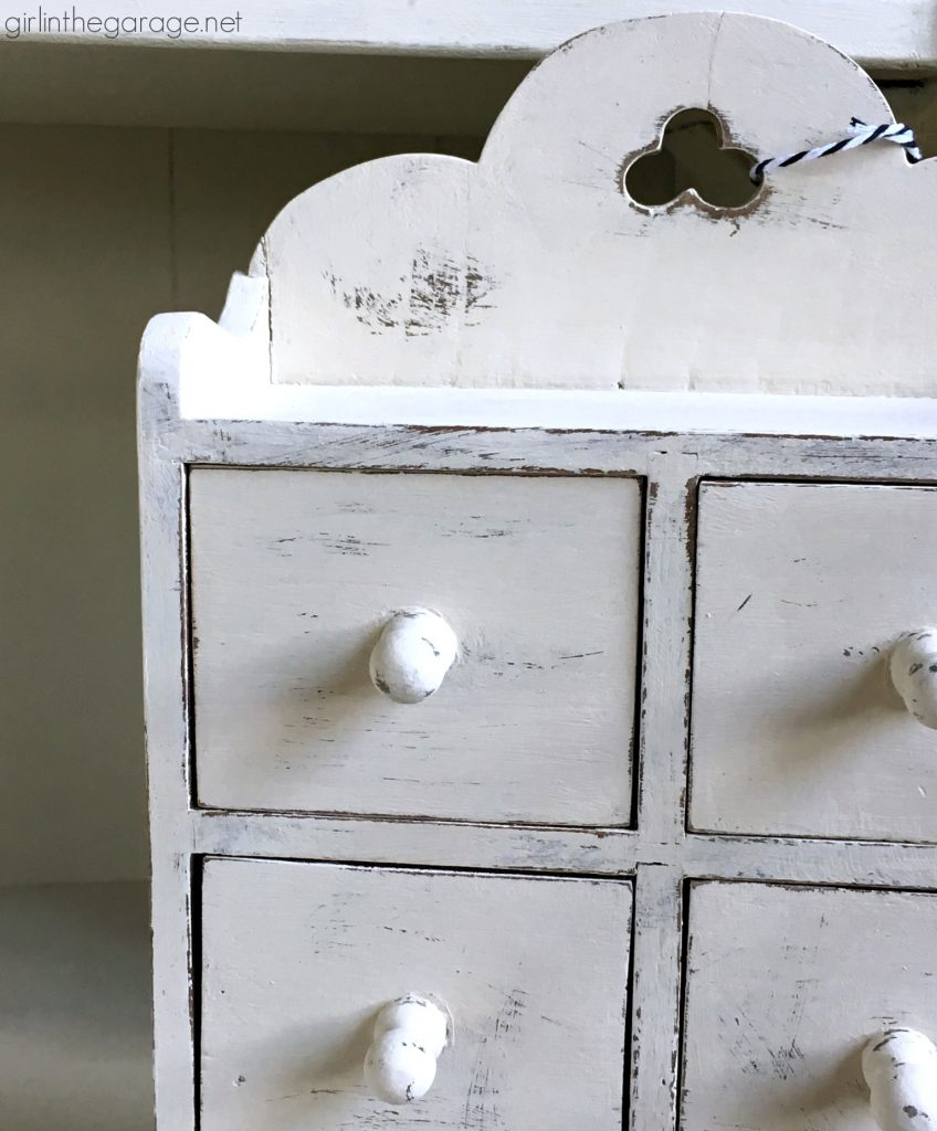 DIY thrifted painted wooden storage boxes. By Girl in the Garage