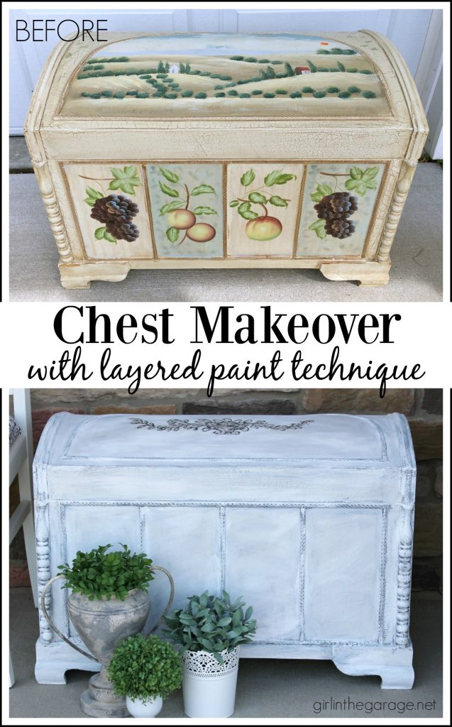 Chest Makeover with Layered Paint Technique - Girl in the Garage