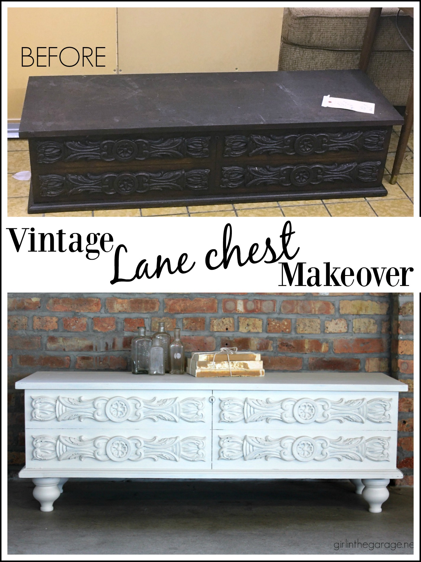 Vintage Lane Chest Makeover With Added Feet And Fusion Mineral Paint   By  Girl In The