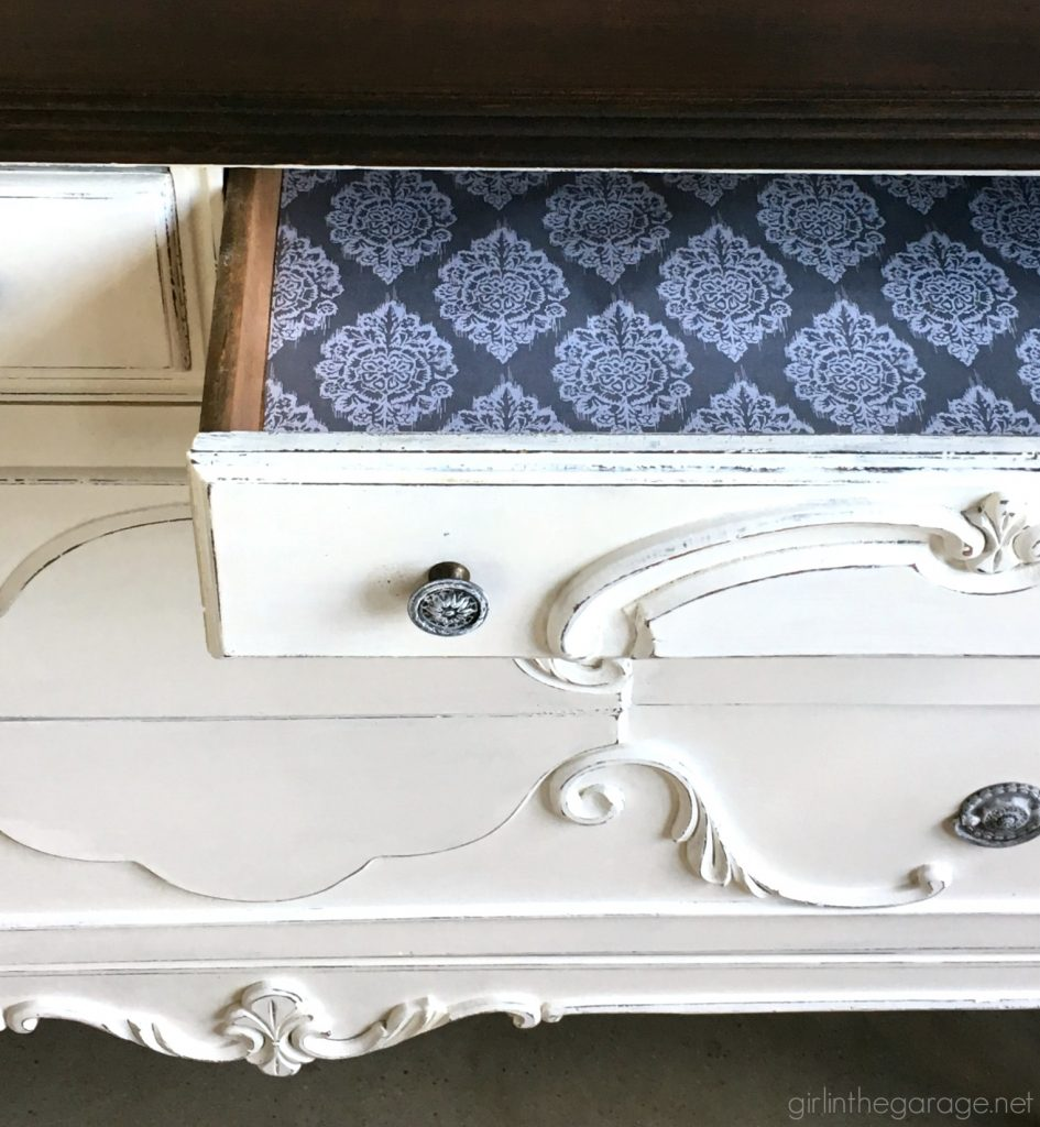 How to repair and revive an antique vanity makeover - Girl in the Garage