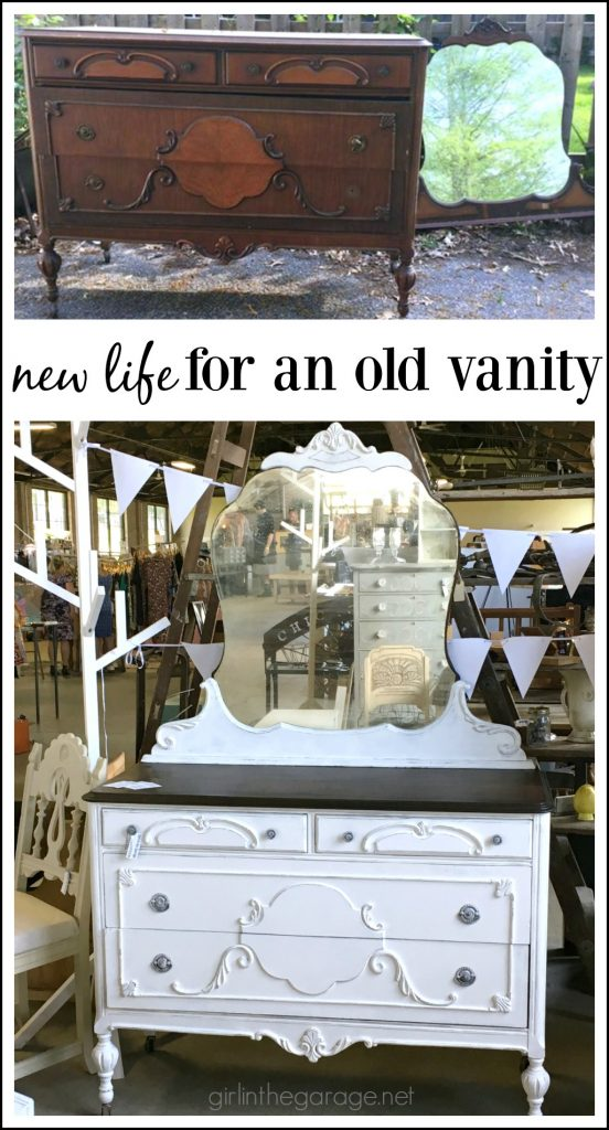 Antique Vanity Makeover - Girl in the Garage