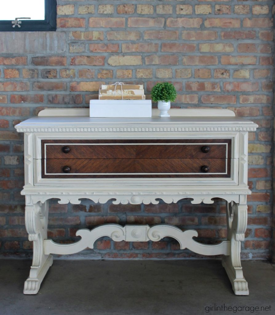 Yard Sale Antique Sideboard Makeover - Girl in the Garage