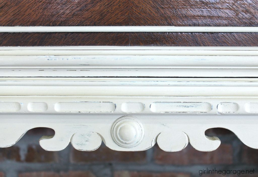 Yard Sale Antique Sideboard Makeover- Girl in the Garage