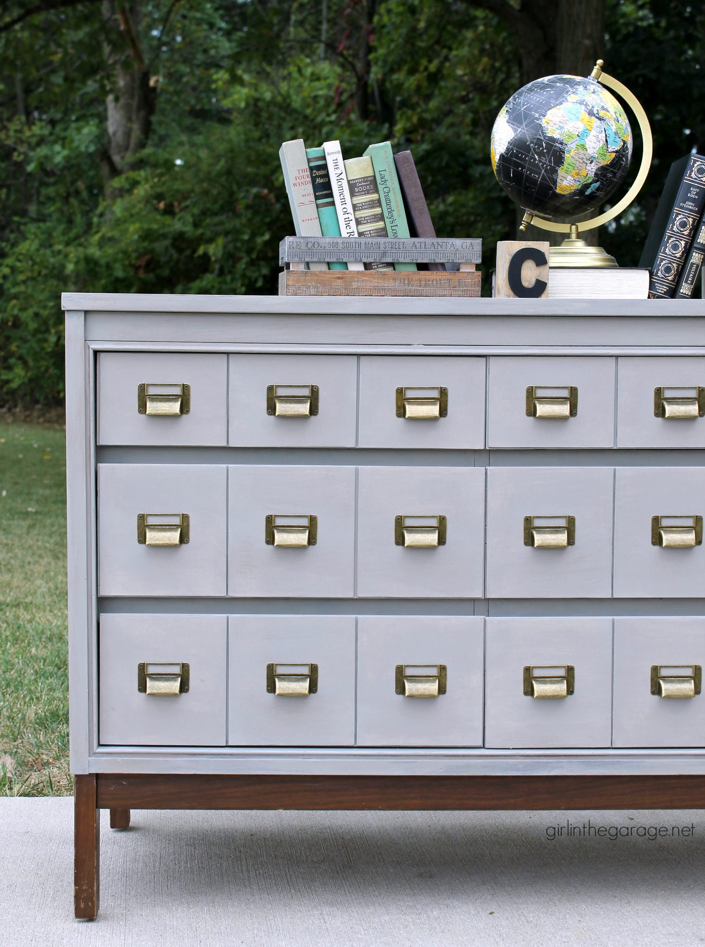 DIY Card Catalog Dresser - Girl in the Garage