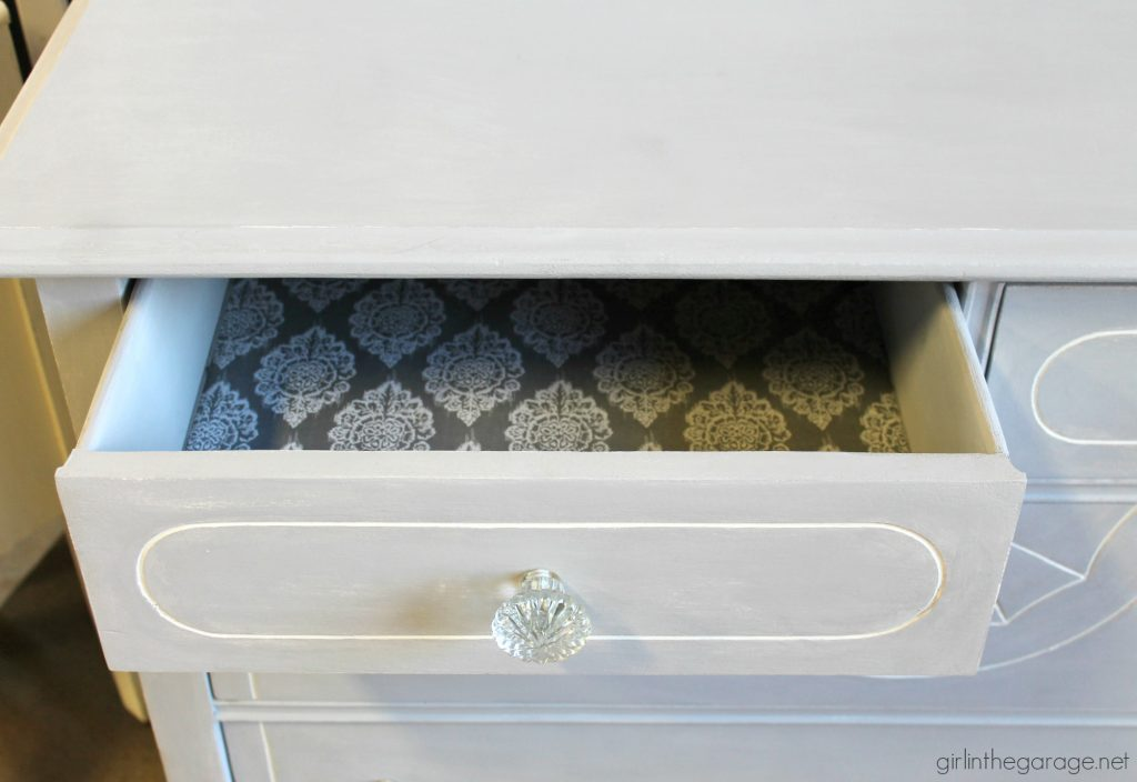 Painted Antique Dresser Makeover - Girl in the Garage