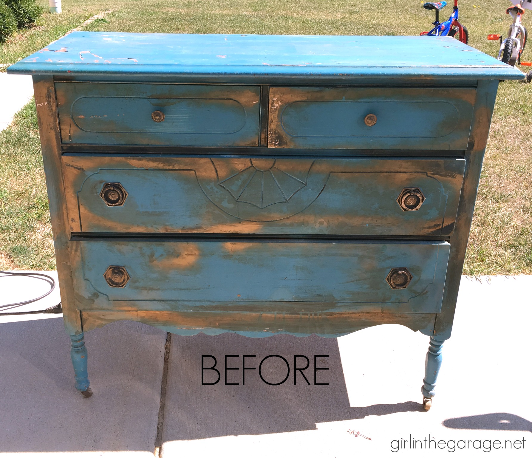 Already Painted Dresser Makeover