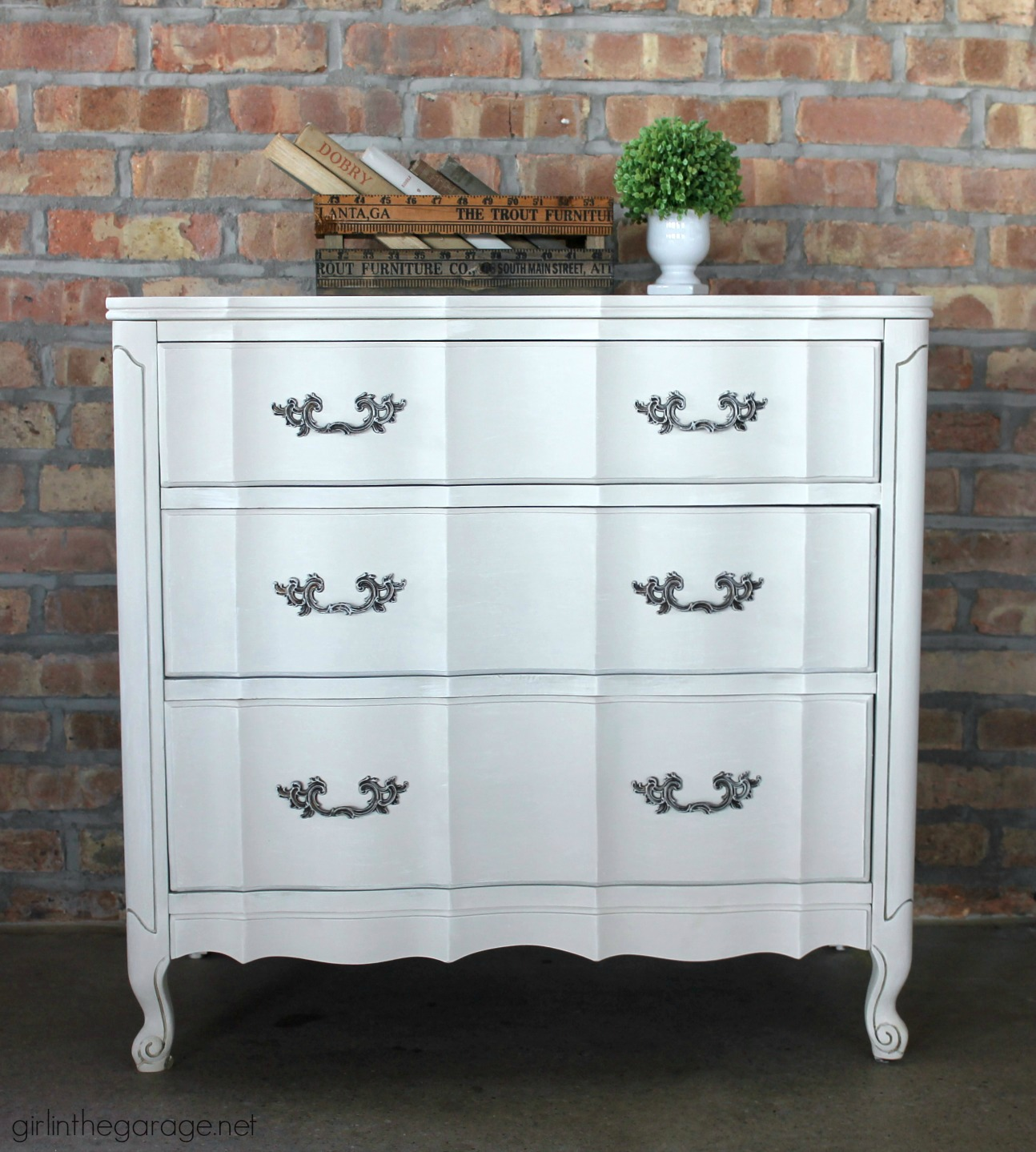 Dry Brushed French Provincial Dresser