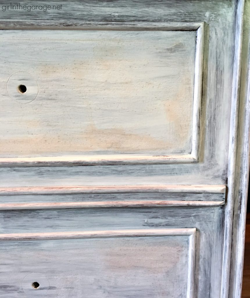 Vintage Cedar Chest Makeover - Minwax Stain and Annie Sloan Chalk Paint - No Bleed Through - by Girl in the Garage