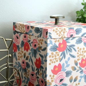 Storage Box Makeover with Wrapping Paper