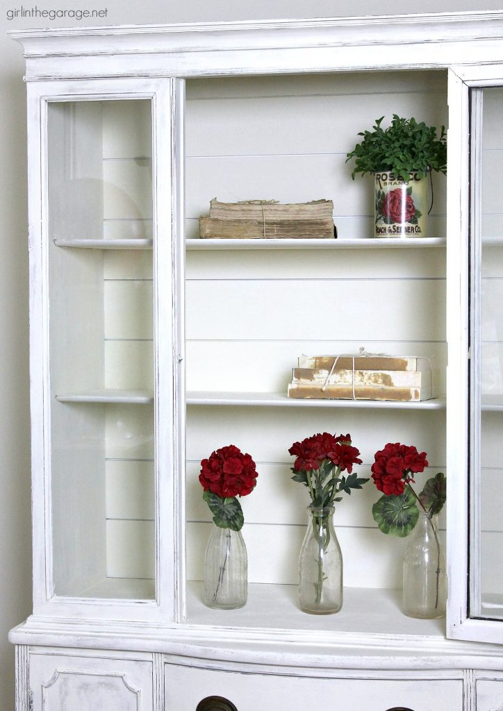 Farmhouse China Cabinet Makeover With Shiplap Girl In The Garage 174