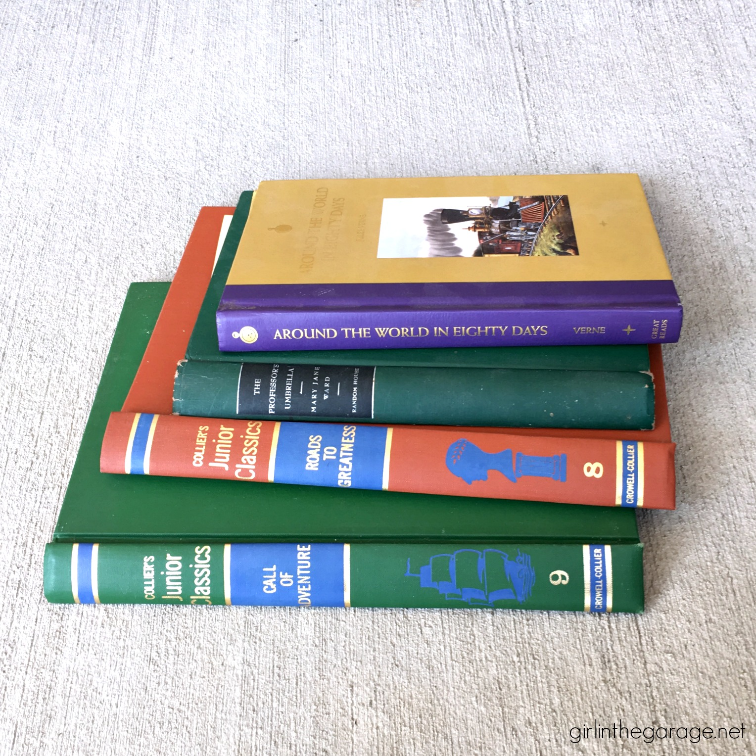 DIY hidden secret storage book box from thrifted book covers - Easy DIY tutorial by Girl in the Garage