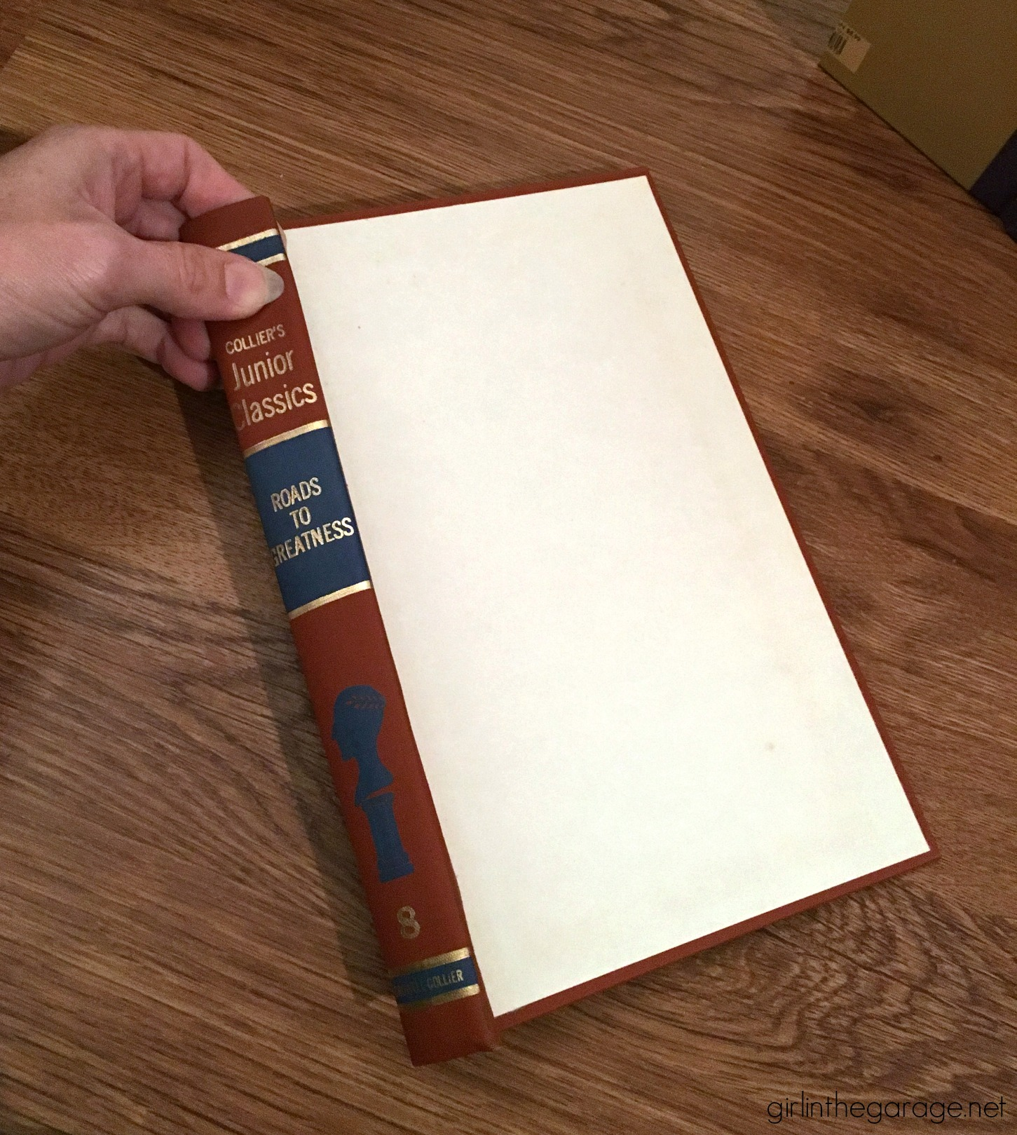 Thrifted book cover projects - Easy DIY tutorial by Girl in the Garage