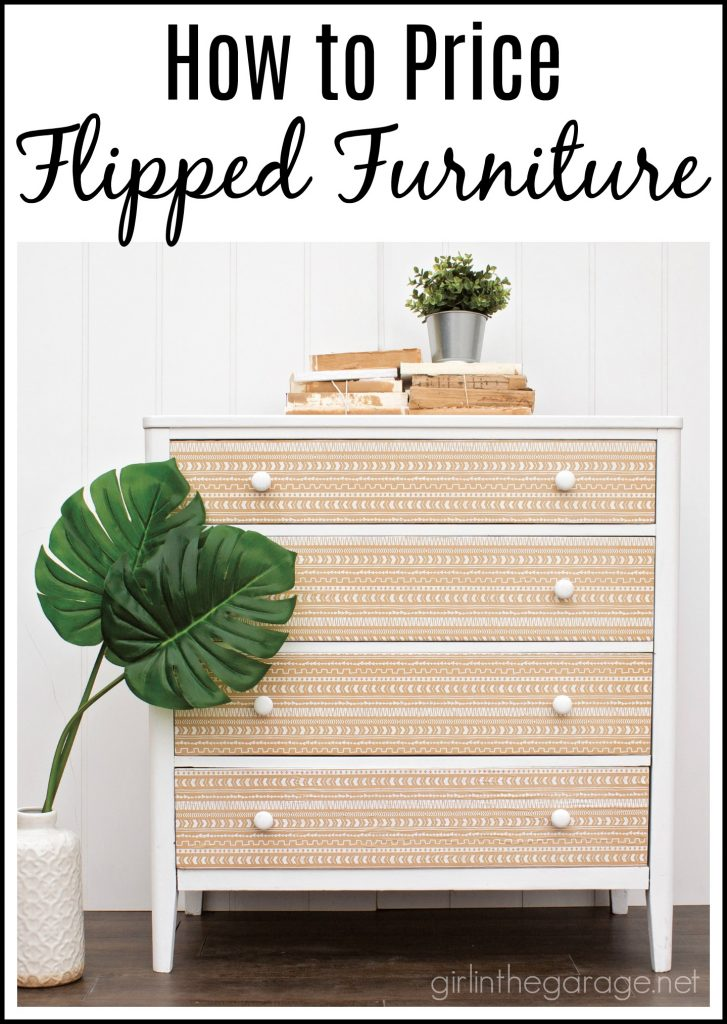 How to price flipped furniture (with examples) - Tips for selling refinished furniture - Make money flipping furniture - Girl in the Garage