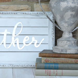 Thrifted Art Makeover (Easy DIY Gather Sign)