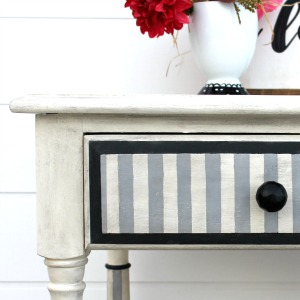 French Striped Table Makeover