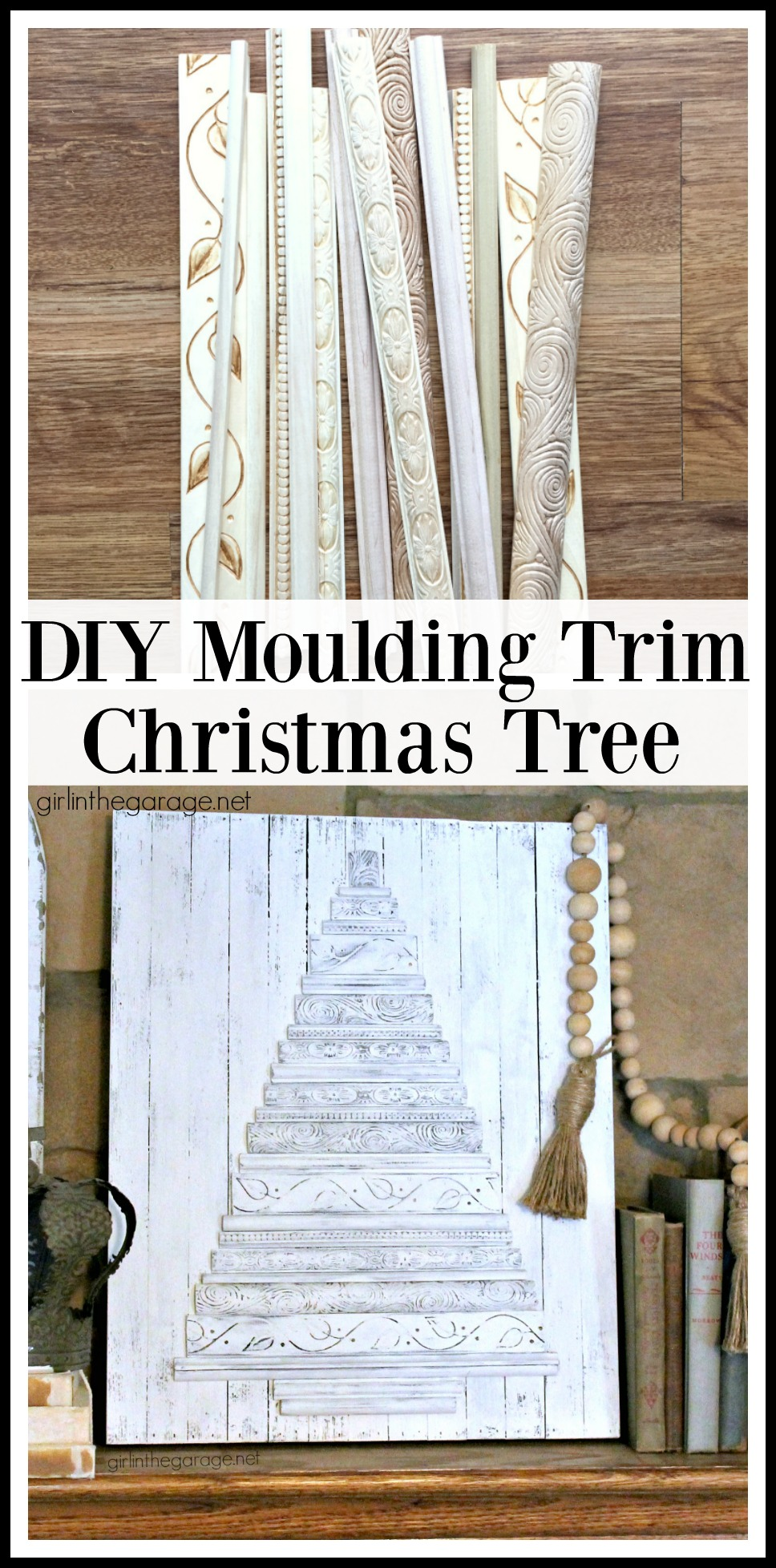 DIY Moulding Trim Christmas Tree - tutorial by Girl in the Garage
