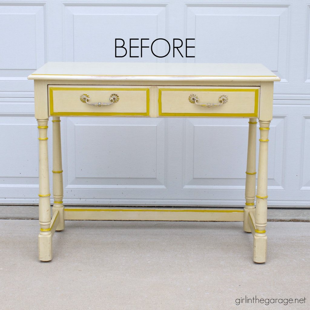 Vanity table makeover - Girl in the Garage