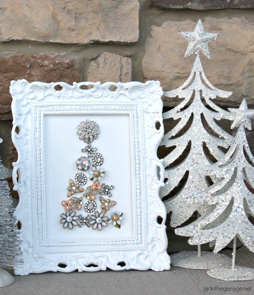 DIY Vintage Earring Christmas Tree Art - Girl in the Garage
