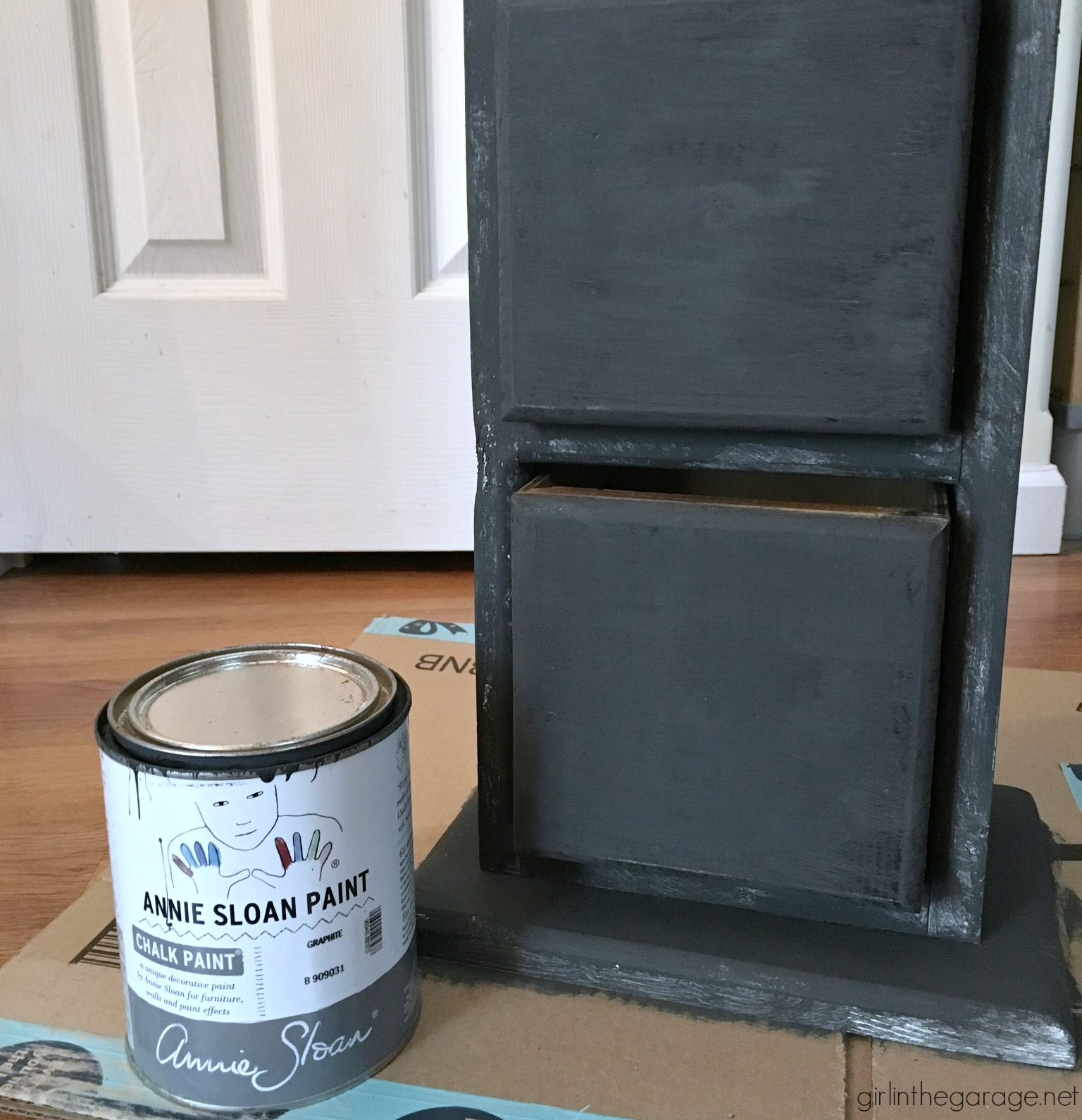 If you want the stained look, but can't have it. Learn how to paint furniture to look like stain. Plus: A card catalog makeover with this faux stain finish! By Girl in the Garage