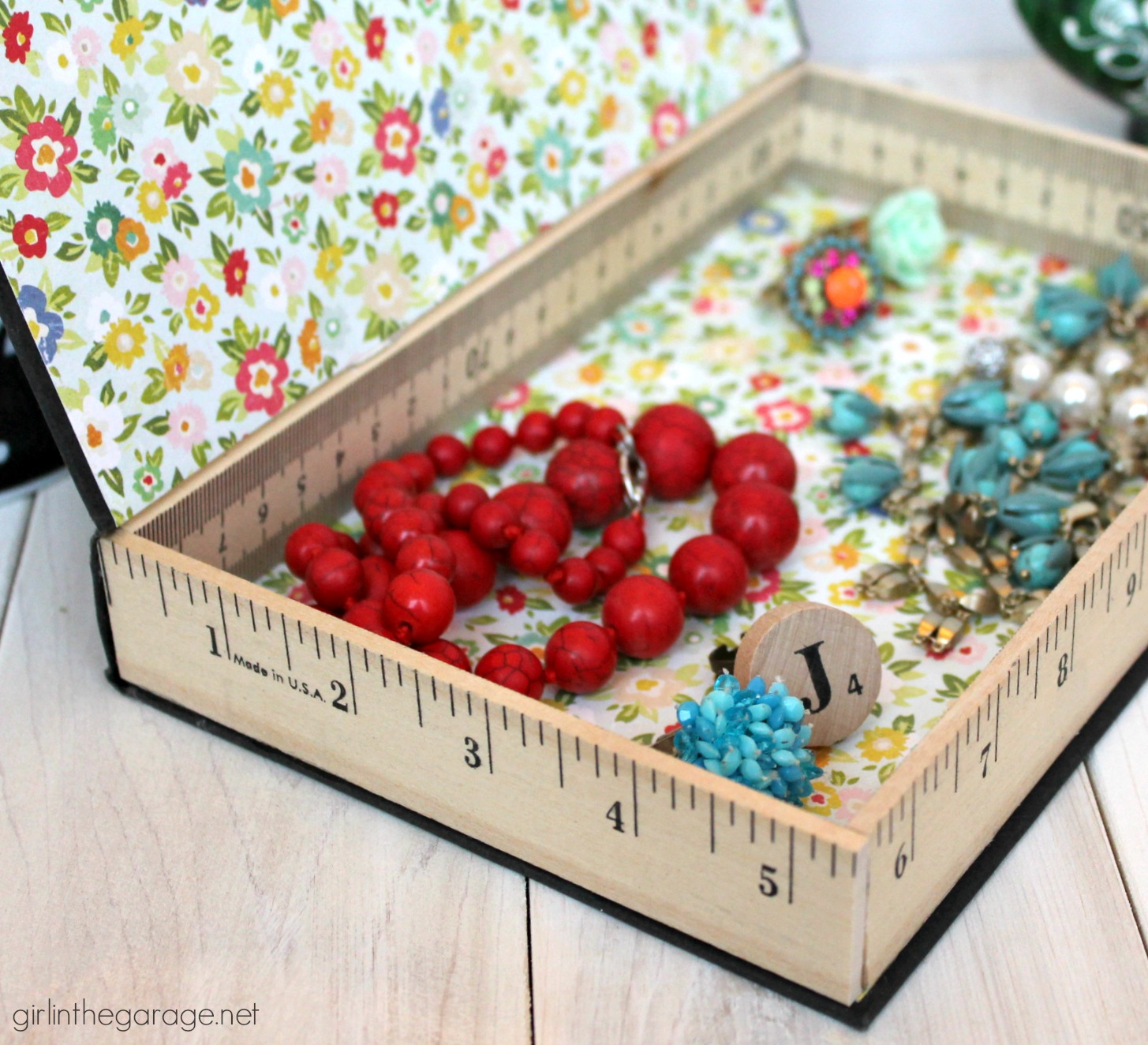 Repurposed book cover into a storage box- tutorial by Girl in the Garage