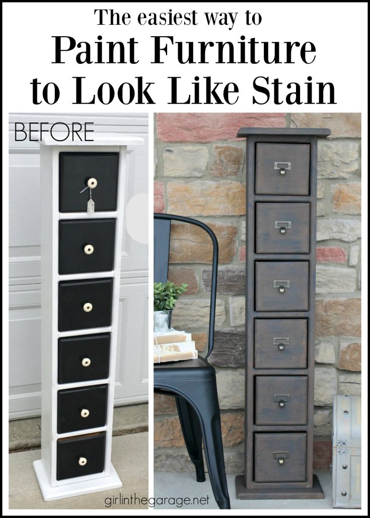 Updated Storage Tower + An Easy Way to Paint Furniture to Look Like Stain